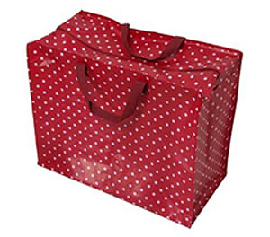 Recycled Red Spot Storage Bag
